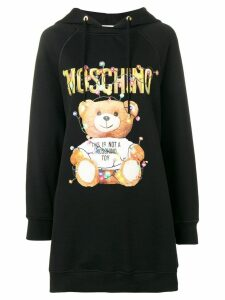 Moschino Teddy Holiday hoodie dress - Black