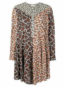Isabel Marant Étoile pattern mix dress - Orange