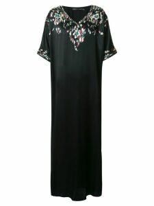 Josie Natori Couture Suzani kaftan dress - Black