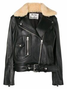 Acne Studios boxy biker jacket - Black