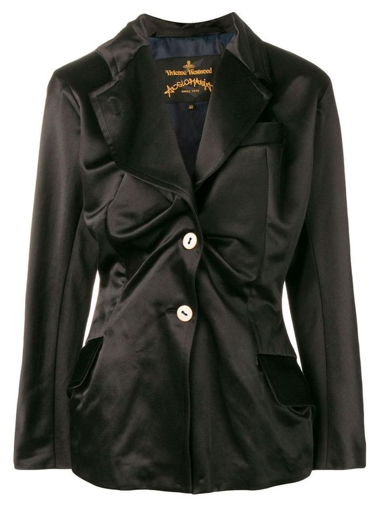 Vivienne Westwood Anglomania asymmetric gathered blazer - Black