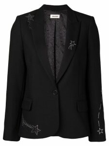 Zadig & Voltaire star embellished blazer - Black