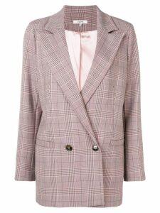 Ganni checkered blazer - Pink