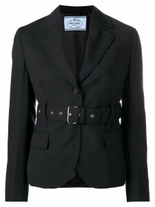 Prada belted blazer - Blue