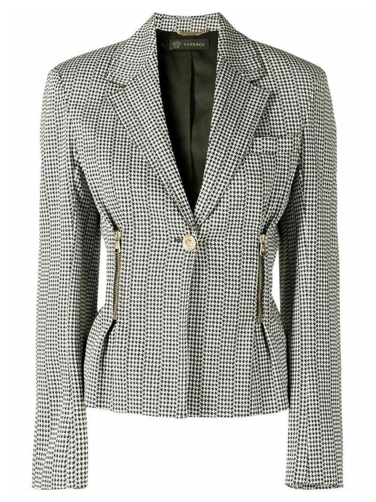 Versace single breasted blazer - Black