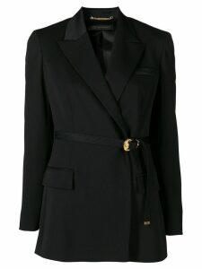 Versace belted blazer - Black