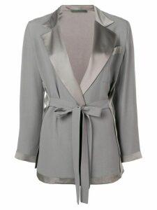 Alberta Ferretti belted tailored jacket - Grey