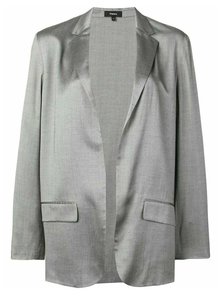 Theory classic open-front blazer - Grey