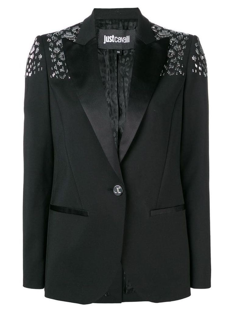 Just Cavalli embellished slim-fit blazer - Black