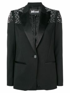 Just Cavalli embellished slim-fit blazer - Black
