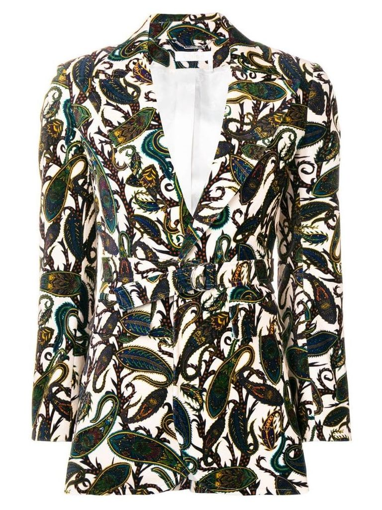 Chloé paisley belted fitted blazer - Neutrals