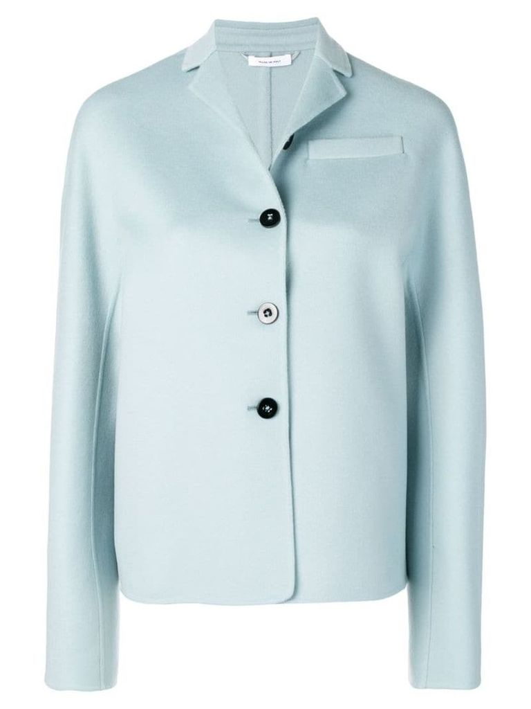 Jil Sander buttoned jacket - Blue