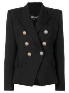 Balmain structured fit blazer - Black