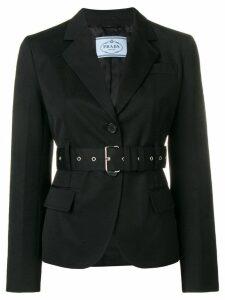 Prada belted fitted blazer - Black