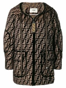 Fendi FF motif hooded jacket - Black