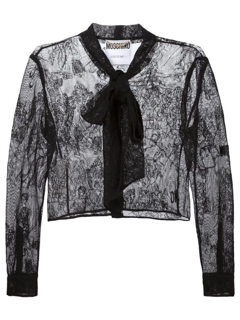 Moschino lace jacket - Black