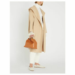 Pucci shawl-lapel camel-hair wrap coat