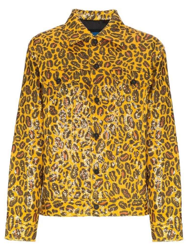 Charm's leopard print jacket - Yellow