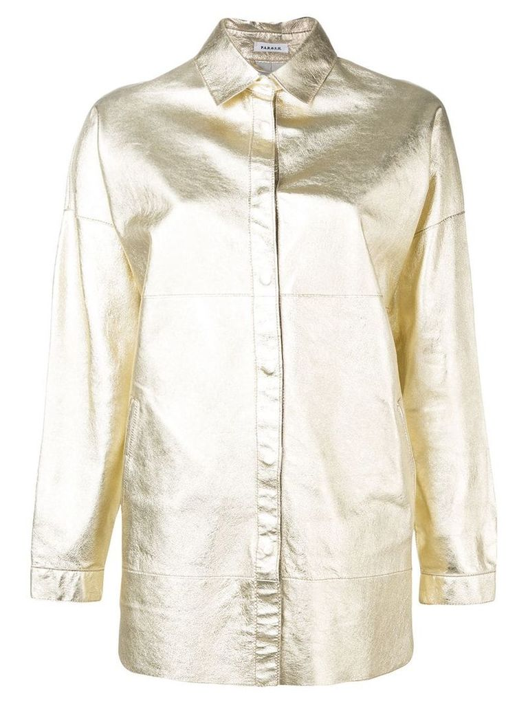 P.A.R.O.S.H. metallic biker jacket - Gold