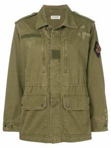 Saint Laurent distressed military jacket - Green