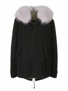 Mr & Mrs Italy fur trimmed jacket - Black
