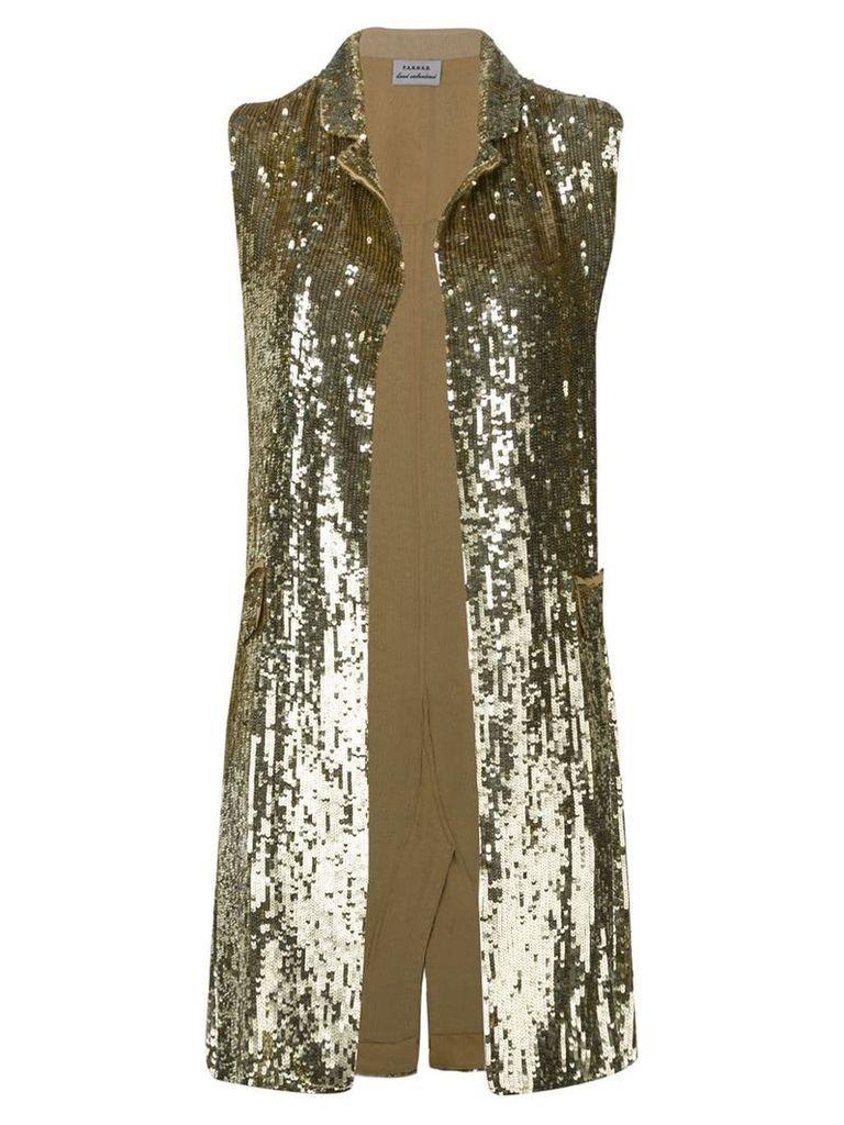 P.A.R.O.S.H. embellished draped waistcoat - GOLD