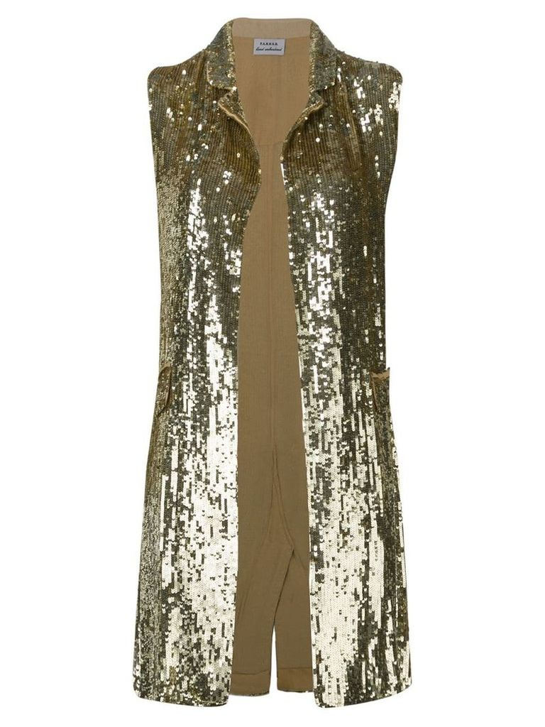P.A.R.O.S.H. embellished draped waistcoat - Gold