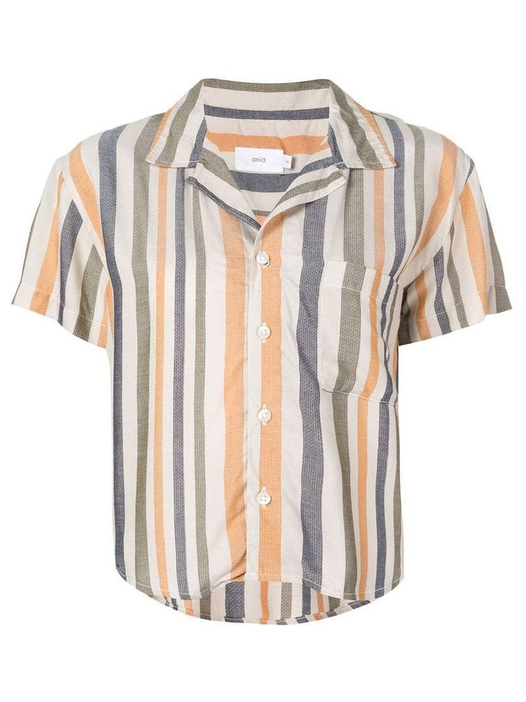 Onia free stripe celeste shirt - Neutrals