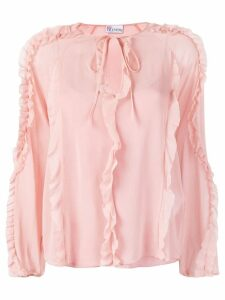 Red Valentino ruffle trim blouse - Pink