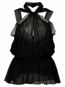 Jason Wu Collection lace trim halter neck blouse - Black