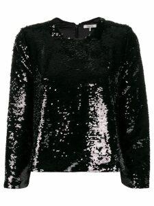 Ganni sequin embroidered blouse - Black