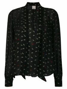 Pinko all-over print blouse - Black