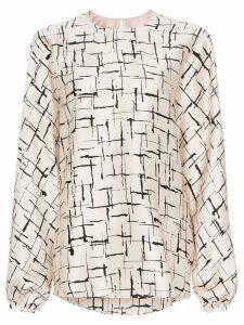 Roksanda Flora printed silk blouse - Neutrals