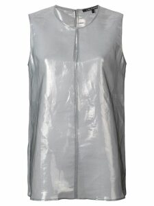 Luisa Cerano metallic sleeveless blouse - Grey