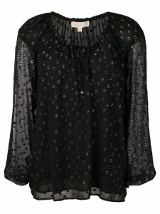 Michael Michael Kors embroidered flared blouse - Black