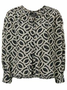 Isabel Marant Amba print blouse - Black