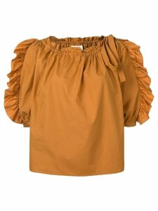 See By Chloé ruffle-trim blouse - Brown