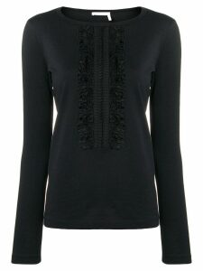 See By Chloé slim-fit ruffle detail blouse - Black