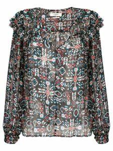 Isabel Marant Étoile geometric long-sleeve blouse - Blue