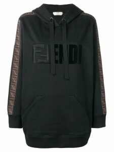 Fendi logo hooded sweatshirt - Black