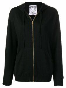 Moschino toy intarsia hoodie - Black