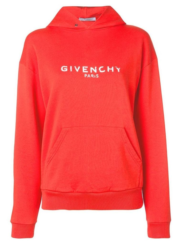 Givenchy logo hoodie - Red