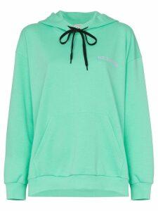 Natasha Zinko Oversized logo hoodie - Green