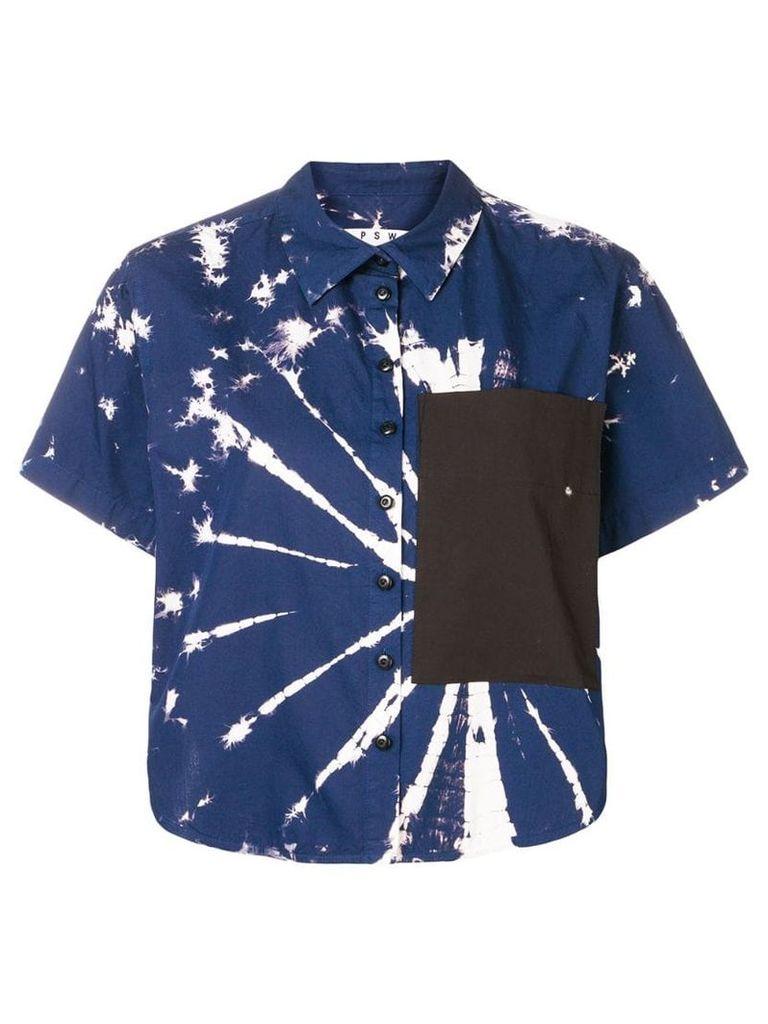 Proenza Schouler PSWL Tie Dye Poplin Shirt - Blue