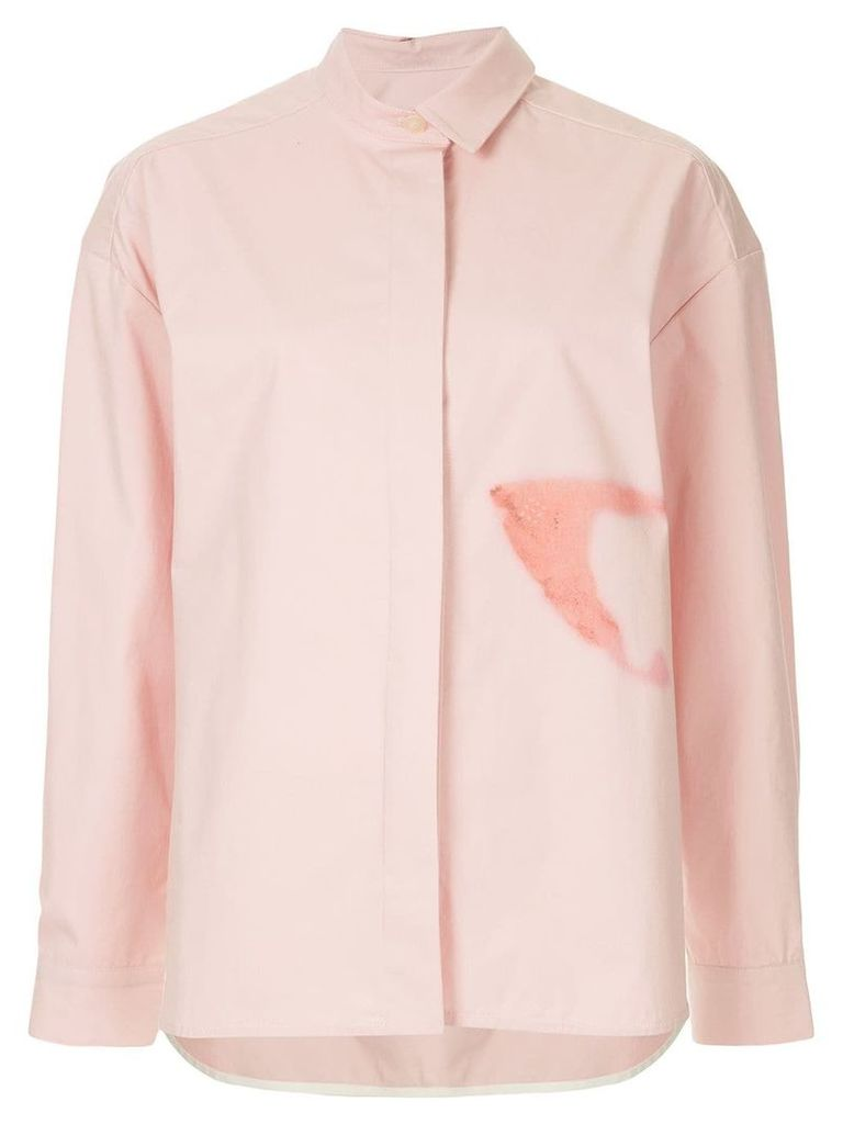 Walk Of Shame iron spot oversized shirt - Pink
