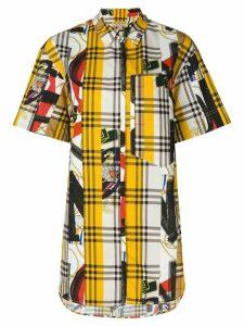 Burberry contrast check print shirt - Multicolour
