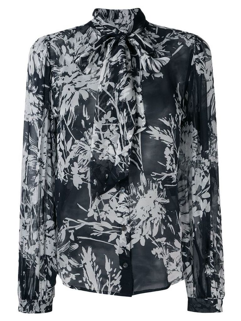 Equipment floral print silk shirt - Black