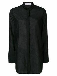 Jil Sander Francesca wrinkled shirt - Black