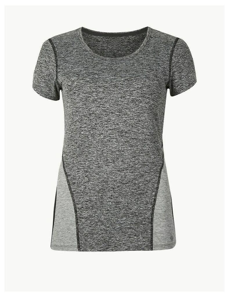 M&S Collection Jaspe Quick Dry Short Sleeve Top