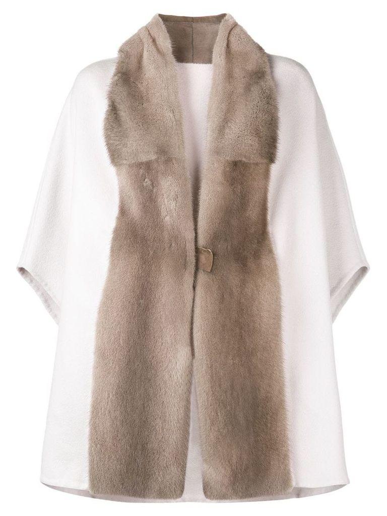 Liska oversized cape coat - Neutrals